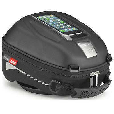 Givi ST602 Sport-T Tanklock Tank Bag 4L Motorcycle Bike Luggage Rain Cover Black