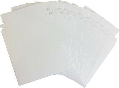 "(10) CDBC05PB Paperboard 5"" Single CD DVD Disc Boxes Mailers Self-Sealing Ship"