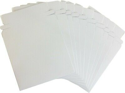 "(10) Paperboard 5"" Single CD DVD Disc Boxes Mailers Self-Sealing Ship #CDBC05PB"