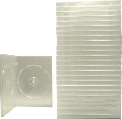 (25) DV2R14CL Clear Standard Double DVD Boxes CASES 2DVD NEW Booklet Clips
