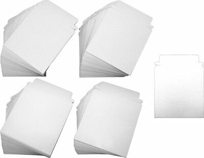 "(200) Paperboard 5"" Single CD DVD Disc Boxes Mailers Self-Sealing Ship #CDBC05PB"