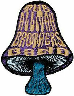 39134 Allman Brothers Band Mushroom Logo Music Southern Rock Blues Iron On Patch