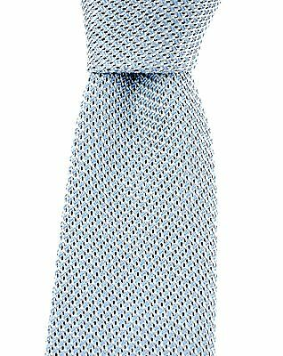 "New CANALI Italy Handmade Light Blue Woven 100% Silk 3.25"" Tie Necktie NWT $225"
