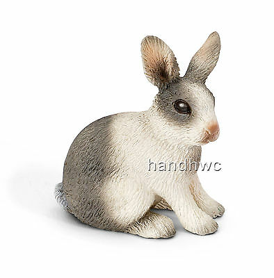 Schleich 13673 Rabbit Sitting Animal Model Toy Bunny Figurine  - NIP