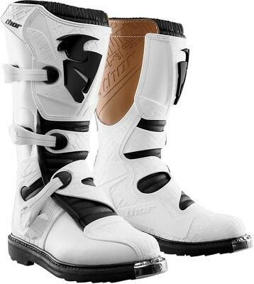 Thor S4 Blitz Motocross Dirt Bike Off Road Motorcycle Boots-See Sizes-White