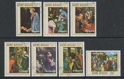 Guinea Bissau - 1989 Christmas (Paintings) set - F/U - SG 1182/8 (f)
