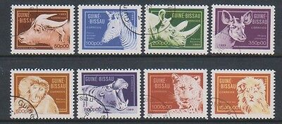 Guinea Bissau - 1989 Animals set - F/U - SG 1174/81 (a)