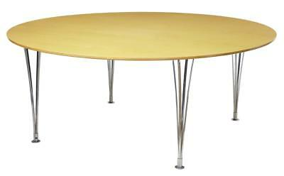 Large Round Bruno Mathsson Birch Dining Table