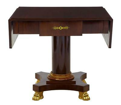 Early 20Th Century Mahogany And Gilt Sofa Table In The Empire Taste