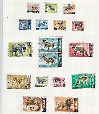 KENYA 1966 Definitive Stamps SET 16v MINT & USED SG20-35 Ref:QB914