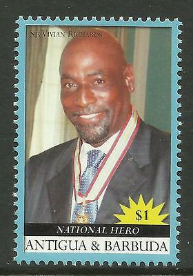 ANTIGUA 2008 SIR VIVIAN RICHARDS Cricket Hero 1v MNH