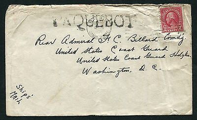 PANAMA: (11820) Rear Admiral USA Coast Guard/Paquebot