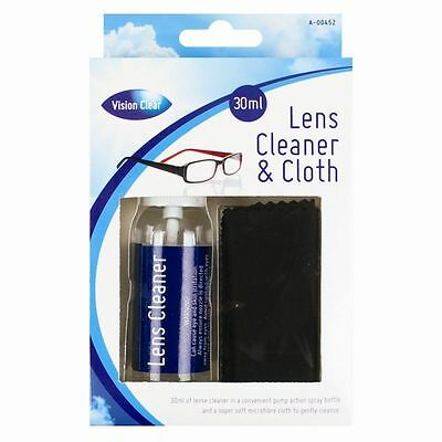 Optical Glasses Lens Cleaner and Cloth 30ml Spray Bottle Camera Wipes & Single