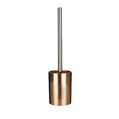 Shine Rose Gold Plastic Bathroom Cleaning Toilet Brush and Free Standing Holder