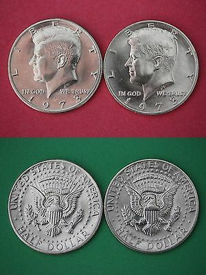 1973 P D John Kennedy Half Dollars Uncirculated From Mint Set Flat Rate Shipping