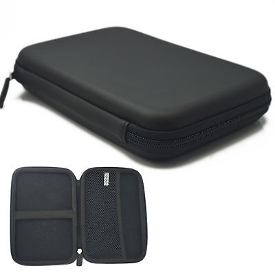 """7"""" Black Pouch Hard bag Case for 6"""" 7"""" GPS PAD Tablet Samsung Galaxy tab P1000"""