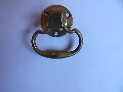 Antique Victorian Brass Small Single Drop Handle For Chest Or Chest Of Drawers