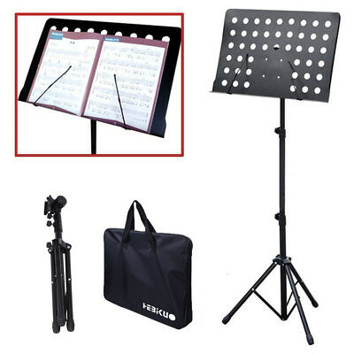 Heavy Duty Orchestral Conductor Sheet Music Tripod Stand with Carring Tote Bag