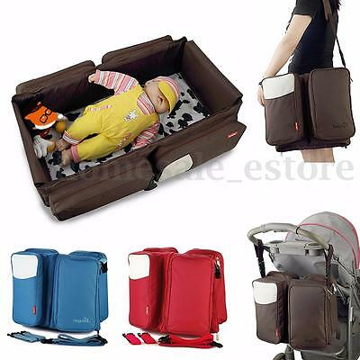 F2 in1 oldable Crib Bassinet Portable Nursery Bed Travel Baby Infant Diaper Bag