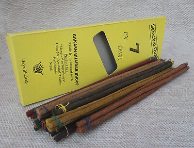 7 different fragrance in 1 pack-Aakash Bhairab Herbs Stick Incense