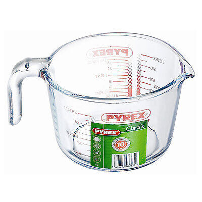 Pyrex 100 Years 1 Litre High Resistance Clear Glass Measuring Jug Kitchen Tool
