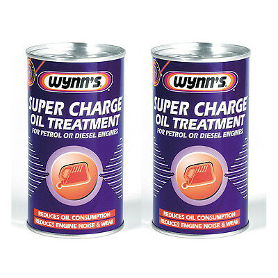 2 x Wynns Super Charge Oil Treatment Additive 300ml For Petrol & Diesel Engine