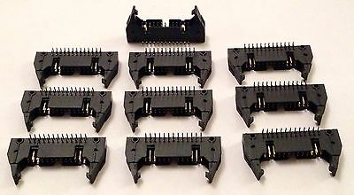 10x Right Angle 26 Pin IDC Connector - 26 Way R/A - Thru Hole