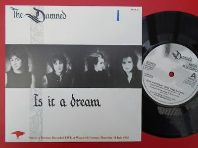 "Damned Is It A Dream 7"" MCA GRIM3 EX/EX 1985 picture sleeve, Is It A Dream/Stree"