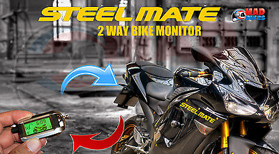 Steelmate 2 Way Pager / Monitor Alarm Security System with LCD Fob Yamaha MT09