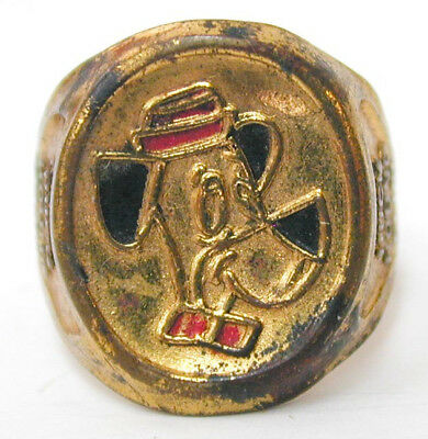 1961 Huckleberry Huck Hound Club Ring Hanna Barbera