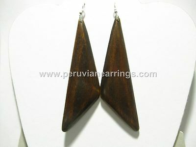 Wooden Wood Earrings Beautiful Earrings Assorted colors Large sizes