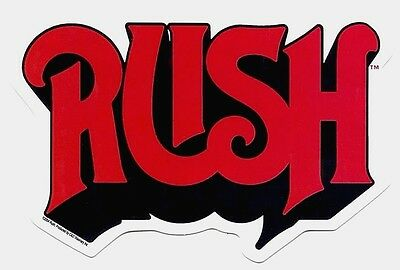 RUSH red & black logo STICKER **Free Shipping** -c s3259 -moving pictures 2112