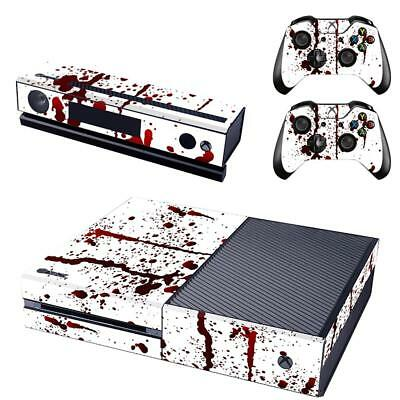 Full Body Splatter Decal Skin Sticker For Xbox ONE Console + 2 Controllers