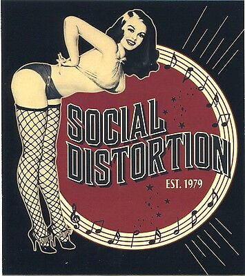 SOCIAL DISTORTION burlesque / est. 1979 - STICKER - **FREE SHIPPING** -c s7010