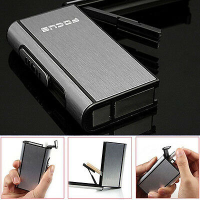 Automatic Pocket Cigarette Case Ejection Holder Metal Aluminum Tobacco Box