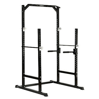 MIRAFIT Heavy Duty Half Power Cage Squat Gym Rack Bench Press/Pull Up/Dip Stand