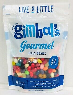 Gimbal's Gourmet 41 Flavors Jelly Beans Container 40 oz Gimbals