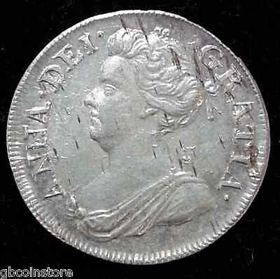 Superb 1710 Anne Maundy Fourpence Bright Sharp Detailed Coin Very Rare Thus