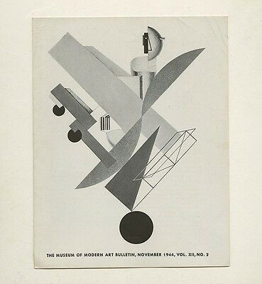 1944 Museum of Modern Art EL LISSITZKY Cover+  Jacob Lawrence 12-page Bulletin