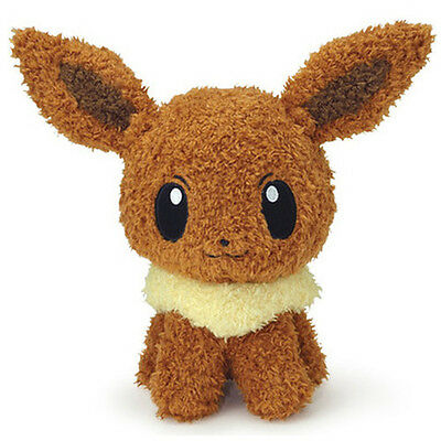 "SALE! Sekiguchi Pokemon Go Plus Moko Moko  9"" Fluffy Eevee Stuffed Plush"