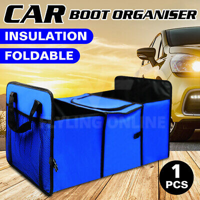 2XNEW Collapsible Foldable 2 in 1 Car Boot Organiser Shopping Tidy Heavy Duty