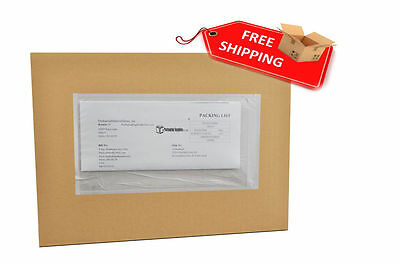 "5"" x 10"" Clear Plain Re-Closable Style Packing List Envelopes Bag 1000 / Case"