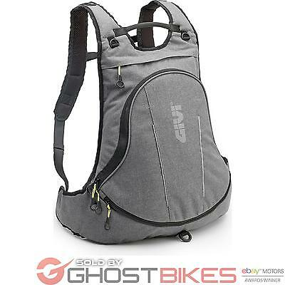 Givi EA104GR Easy-T Range Expandable Rucksack with Helmet Bag 22L Grey Biker