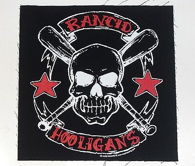 "RANCID Hooligans BACK PATCH (12"" x 12"") Large XL Sew On jacket patch cloth punk"