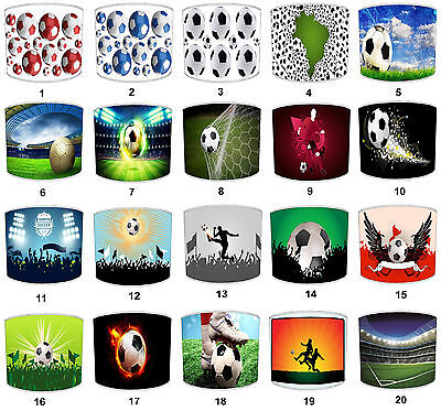 Football Lampshades Ideal To Match Boys Football Wallpaper & Football Wall Art.
