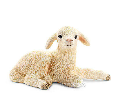Schleich 13745 Lamb Lying Baby Sheep Model Farm Animal Toy - NIP