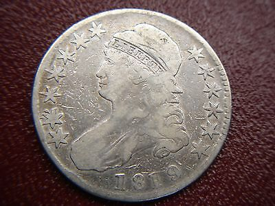 1819/18 Capped Bust Half -  Early Date Variety Silver Half Dollar
