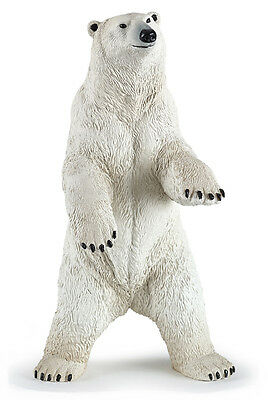 Papo 50172 Standing Polar Bear Model Wild Animal Figurine Toy - NIP