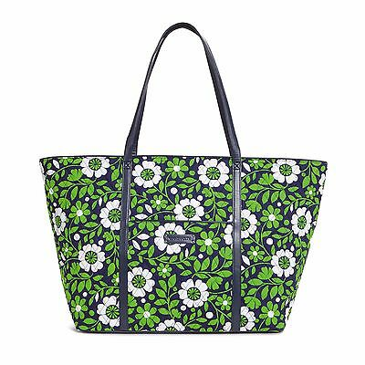 LUCKY YOU Vera Bradley Faux Leather TRIMMED TRAVELER TRAVEL Overnight BAG NWT