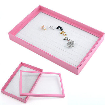100 Slots Ring Storage Earring Display Box Jewelry Organizer Holder Show Case